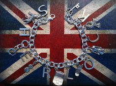 I am Sherlocked - BBC Sherlock Inspired Silver Charm Bracelet.