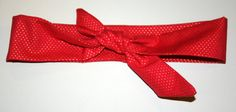 Tie Headband by SweetNothingsStitch on Etsy