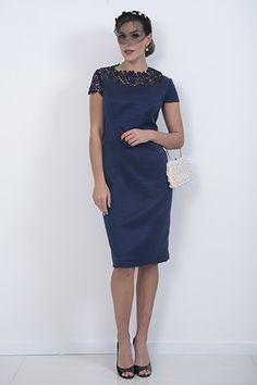Navy Jolie Sleeve Dress – piadupradalonline