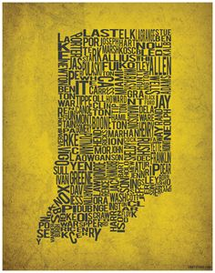 Indiana is divided into many counties. I was born in Marion County, the county where Indianapolis is located, but I grew up in Monroe County, in Bloomington.