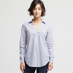 New Season Women's Fashion Clothing | Wild South - LINEN BLEND RELAXED SHIRT