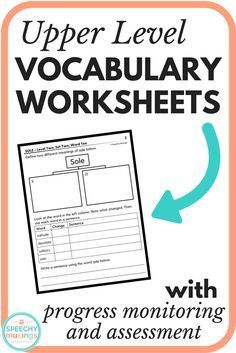 Target a variety of vocabulary skills in speech therapy sessions with this packet. Great for upper elementary and middle school SLPs. Works on synonyms, antonyms, multiple meaning words, prefixes, suffixes, root words, parts of speech, grammar, articulation, word-finding, and more all in one! From Speechy Musings.