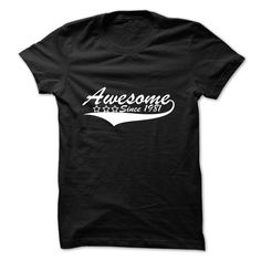 Awesome Since 1981 T-Shirts, Hoodies. BUY IT NOW ==► https://www.sunfrog.com/Birth-Years/Awesome-Since-1981-dhslx.html?id=41382