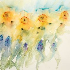 Try this fun watercolor challenge: paint beautiful bluebonnets in just a few minutes with renowned watercolorist Jean Haines!