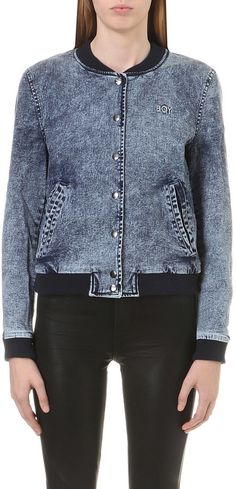 BOY LONDON Stretch-denim bomber jacket