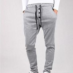 Men Casual Pants Cool New Casual Pants Tracksuit Trousers Men Harem Sweatpants Hip Hop Loose Pants Mens Joggers Harem Sweatpants, Cotton Harem Pants, Mens Sweatpants, Jogger Pants, Sports Trousers, Sport Pants, Men Pants, Fashion Casual, Mens Fashion