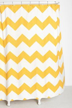 Zigzag Shower Curtain.. in black and white. ..for guest bathroom