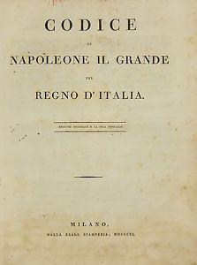 Risultati immagini per Codice napoleonico per l'Italia immagini
