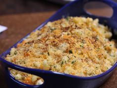 CRAB CAKE MAC N CHEESE This macaroni and cheese is seasoned with Old Bay and studded with fresh lump crabmeat and chopped vegetables for a wintry take on the classic Maryland cakes.