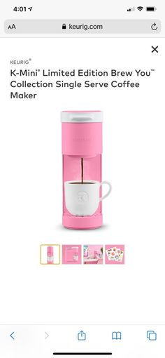 Pop of pink color. Brand new unopened. Pop of pink color. Brand new unopened. Mocha Coffee, Starbucks Coffee, Keurig Mini, Home Brewery, Food Truck Design, Pumpkin Spice Coffee, Coffee Truck, Coffee And Tea Accessories, Coffee Quotes