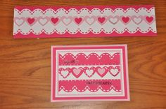 Border and Card using the border maker with the double heart cartridge