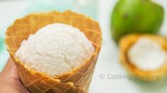 Tender Coconut Ice Cream Recipe ~ Natural Style | No-Eggs No-Ice Cream Maker April 19, 2015 By Yaman