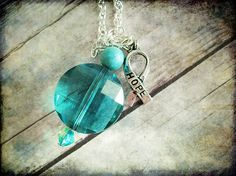 PCOS and having a baby facts.  http://pcos-and-pregnancy.com/ PCOS Teal Awareness Necklace 049