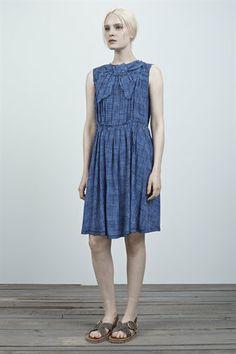 Sketch Check Crepe De Chine Dress