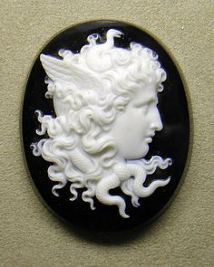 Medusa, 1869-1870, Italian (Rome), onyx