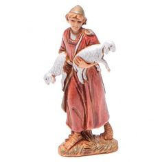 Pastor con ovejas 6.5 cm Moranduzzo estilo arabe Carving, Clay, Statue, Felt Christmas Decorations, Saint Joseph, Nativity Sets, Birth, Clays, Wood Carvings