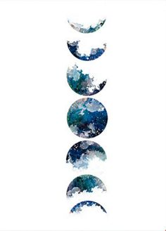Min ~ Minnah ~ ✨ Source by Cute Wallpapers, Wallpaper Backgrounds, Iphone Wallpaper, Mode Poster, Watercolor Moon, Moon Art, Moon Phases Art, Moon Moon, Moon Photography