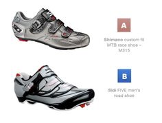 Which one do you prefer?  Check out these products here:  Shimano: http://roa.rs/YqKoWq  Sidi: http://roa.rs/12ceYT1