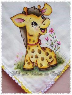 giraffa baby animali pittura su stoffa