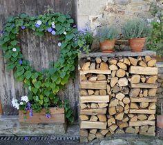 """""""Abundance"""" By Sue Wiederkehr. Grow Your Own, Abundance, Firewood, Make Me Smile, Gardening, Texture, How To Make, Crafts, Inspiration"""
