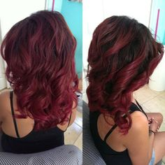 Love Red hair but it fades so FAST!  Red hair , curls