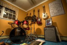 awesome carpet in this music room Guitar Room, Piano Room, Cafe Interior, Interior Exterior, Music Studio Room, Music Rooms, Library Study Room, Band Rooms, Dream Studio