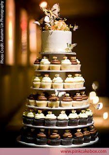 6 Tier Wedding Cupcake Tower Chocolate and Vanilla