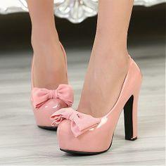 New Roman high heel shoes sweet bow heels shoes round Pump Shoes, Shoes Heels, Cheap Womens Shoes, Chunky Heel Pumps, Super High Heels, Bow Heels, Round Toe Pumps, Kawaii Fashion, Wholesale Jewelry