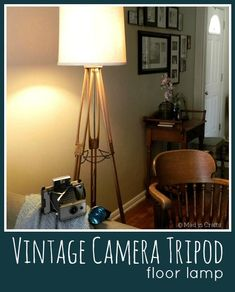 Vintage Camera Tripod Lamp - Mad in Crafts