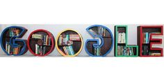 Google Wooden Bookcase by middle school student Jocelyn Valentin
