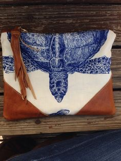 A personal favorite from my Etsy shop https://www.etsy.com/listing/228279637/nautical-clutch-foldover-clutch-beach