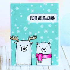 Christmas card with Lasse & Peer. You can find more pictures and information on my blog!  #christmas #christmascard #card #cardmaking #diycard #weihnachten #weihnachtskarte #klartext #danipeuss #froheweihnachten maikreations