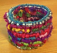 Locker Hooking - my first bracelet