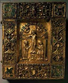 Cover for a Book of the Gospels, Carolingian, German, 11th century (gold)