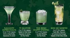Perfect Drinks for a St. Patrick's Day Party!