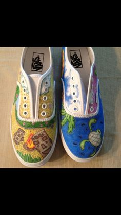 Used sharpies to draw on vans