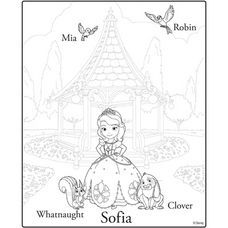 """Sofia The First"" Activity Sheet - Rewards - Disney Movie Rewards"