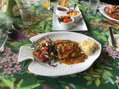 Creole mahi mahi while in st Lucia the Caribbean way. This would be lange diet compliant if didn't have the rice. This was lunch and I always say if u going to cheat do it at lunch.