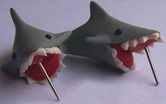 Biting Shark Earrings