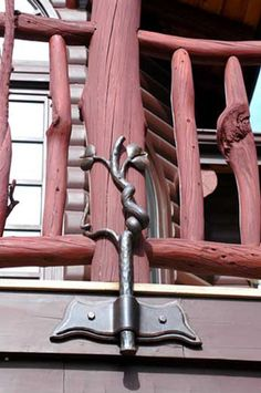 Wow! Not sure whether I like the railing or the post support the most...