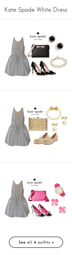 Kate Spade White Dress by folioboutique on Polyvore featuring Kate Spade