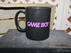 Vintage GameBoy Coffee Cup Mug Have you had your fun today? Black Coffee Mug Promotional Item by EvenTheKitchenSinkOH on Etsy
