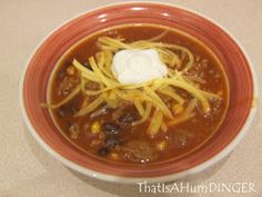 That Is a HumDINGER!: Taco Soup: Crock Pot Style!