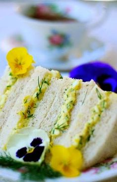 ♥ Dilly Egg Salad Sandwiches ♥  /Tea at Prim Rose Hill