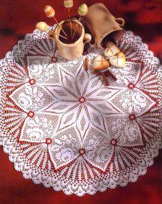 tejidos artesanales en crochet: carpeta inspirada en la naturaleza
