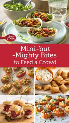 The best DIY projects & DIY ideas and tutorials: sewing, paper craft, DIY. DDIY Food & Recipe For Party You can watch the game, not the oven, with these super snacks made to feed a crowd. Appetizers For A Crowd, Finger Food Appetizers, Appetizer Recipes, Party Appetizers, Tapas, Cooking For A Crowd, Feeding A Crowd, Baby Feeding, Game Day Food