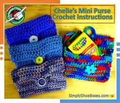 Simply Shoe Boxes: Mini Purse or Wallet Crochet Instructions
