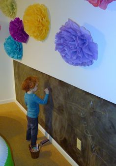 Fun at Home with Kids... great ideas for a child's playroom, especially for creating and displaying artwork