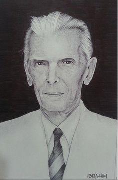 Quaid-e-Azam Ballpoint on paper