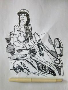 Roshni misbah a superbikerider